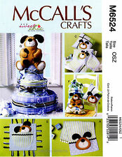 McCall's Pattern M6524 Baby Burp cloth Pillows Blanket Toy Dog Diaper cake 6524