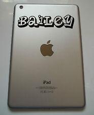 Apple iPad Mini Vinyl Sticker Personalised Planet Font Name Laptop Tablet