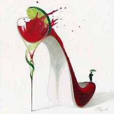 Inna Panasenko: Cosmopolitan High Heels Fertig-Bild 50x50 Wandbild Schuh Kult
