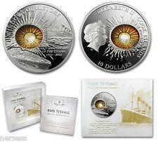 Cook Islands 2012 TITANIC 100th Anniv 2 Oz $10 Proof Silver Coin Glass Insert