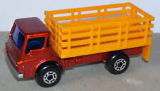OLD LESNEY CAMION DODGE CATTLE TRUCK ORANGE REF 71 1976
