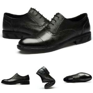 Mens Low Top Faux Leather Business Leisure Shoes Soft Work Office Formal 38-46 L