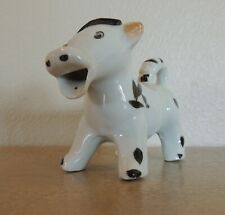 Vintage Fanciful Cow Bull Creamer Black And White Ceramic Pitcher Made in Japan