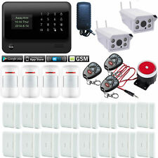 V44 G90B WiFi GSM APP Wireless Home Security Alarm System+2 Waterproof IP Camera