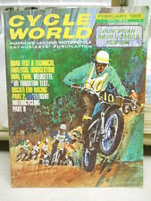 Cycle World, Feb 1966, European Moto Cross Review, Bridgestone Dual Twin   box 9