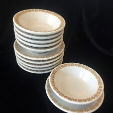 6 Shenango China Restaurant Ware Gold Daisy 4.75\  Berry Bowls \u0026 Under Plates & Gold Restaurant Ware China \u0026 Dinnerware   eBay
