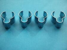 "TRIUMPH CHROME HANDLEBAR CABLE CLIPS x 4 TR6/TR7/T120T140/T150  7/8"" DIAMETER"