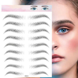 6D Eyebrow Tattoo Sticker False Eyebrow Waterproof Long Lasting Water Transfer G