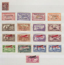SYRIA SYRIE 1921-1929, AIR MAIL, MOSTLY COMPLETE SETS, 18 STAMPS