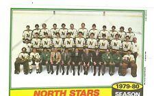 1980-81 Topps Hockey Team Photo Mini Poster Pinup Minnesota North Stars Mint