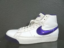 Nike Blazer Mid 325064-102 Leather White/purple youth Size 6Y