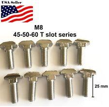 Hammer Head T Bolt Screws M8 T-slot Aluminum Extrusion 45-50-60 Series 30mm