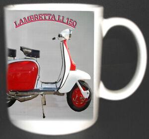 LAMBRETTA LI 150 SCOOTER COFFEE MUG. NEW DESIGN.MODS
