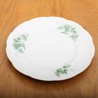 Vintage Owen Minerva Gold Medal St. Louis Green Flower Pattern Plate