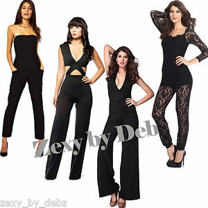 Ladies Catsuits Jumpsuits Playsuits Sexy Summer Styles Black Lace 8 10 12 14
