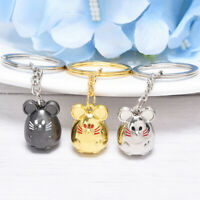 Chunky Rat Mouse Keychain Animal Car Keyfob Bag Pendant Key Chain Keyring G np