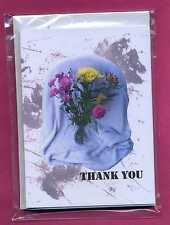 SUPER SALE!! Pk OF 8 BLANK THANK YOU LETTER NOTELETS FREE P&P bySELF-REP' ARTIST