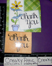THANK YOU CALIGRAPHY RUBBER STAMP DOTS D.O.T.S. N230
