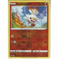 031/202 Scorbunny | Common Reverse Holo Card Pokemon TCG Sword & Shield Base Set
