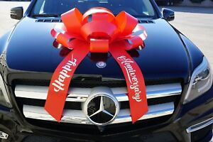 Happy Anniversary Car Bow, Large Magnetic Back Gift Bow, Car Bow Ribbon Special