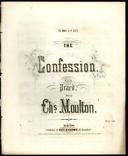The Confession by Charles Moulton - 19th Century Sheet Music Calligraphy Cover
