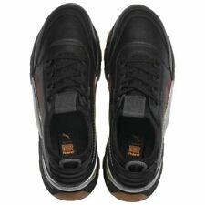 NEW LIMITED EDITION PUMA ROLAND SHOES MENS BEAUTIFUL BLACK LEATHER SNEAKERS 12 M