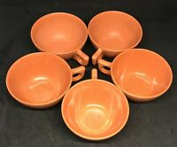 Vintage Melmac Coffee Cups - Color Flyte by Branchell - Set of 5 - Orange