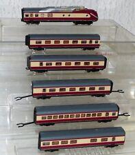 6x Roco aus 23101 Gasturbinenzug BR 602: Steuerwagen, Mittelwagen Spur N