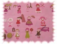 Multiculti  Popeline/Baumwolle rosa _ Rest 53 cm Stoffrest Stenzo