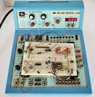 K&H IDL-800 Digital Logic Training Lab Breadboard Function Generator Volt Meter