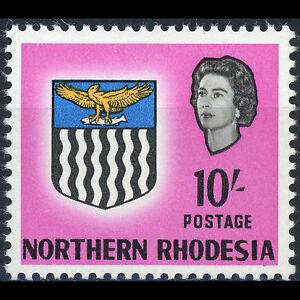 NORTHERN RHODESIA 1963 10s Bright Magenta. SG 87. Mint Never Hinged. (AT233)