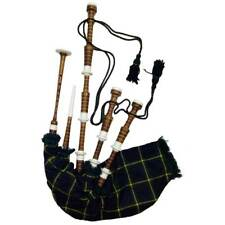 SL Scottish Highland Bagpipe Brown Imitation Mount Gordon Tartan Dudelsack Gaita