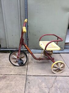 Vintage Raleigh Mini Trike Children's Tricycle Marching Band Shop Display Retro