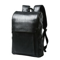 Men's Vintage Travel PU Leather Shoulder School Bag Laptop Backpack Rucksack New