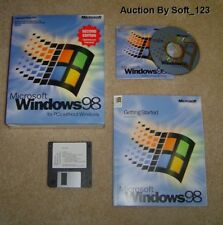MICROSOFT WINDOWS 98 SECOND EDITION FULL OPERATING SYSTEM WIN 98 SE =NEW BOX=