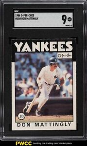 1986 O-Pee-Chee Don Mattingly #180 SGC 9 MINT