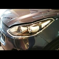 Chrome Front Head lights Protector Guards for Kia All New Sportage QL 2017+
