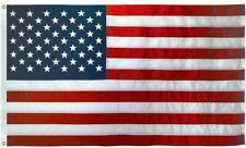 "American Flag USA BOAT FLAG 12""x18"" Sewn Embroidered Stars Sewn Stripes USA Made"