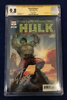 Immortal Hulk #1 Buscema Remastered Edition 1:500 CGC SS 9.8 Signed by Stan Lee!