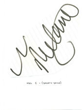 Melanie C signed autograph book page 1990s English singer Spice Girls Chisholm
