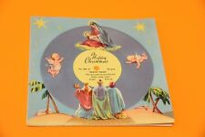"7"" happy chrismas silent night melody cards ORIG UK '60 EX GATEFOLD CARDS !!!"