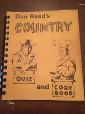 1972 Country Music Hall of Fame Dan Reed's Country Quiz and Cookbook Autographed