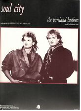 """THE PARTLAND BROTHERS """"SOUL CITY"""" SHEET MUSIC-PIANO/VOCAL/GUITAR/CHORDS-1987-NEW"""