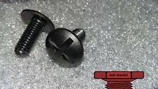 M8 x 10 Flachrundschraube Kreuzschlitz Polyamid Kunststoff PA schwarz 10 Stk.