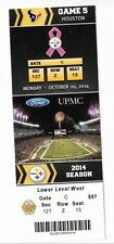 2014 PITTSBURGH STEELERS VS HOUSTON TEXANS TICKET STUB 10/20