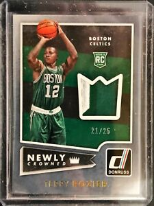 2016-17 Panini Donruss Newly Crowned #9 RC 21/25 Terry Rozier Jersey Autograph