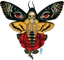 Death From Above STICKER Decal Gustavo Skeleton Rose Butterfly Eyes G43