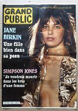 "AFFICHE présentation du journal  ""Grand Public n° 9"" 18 avril 1983 Jane Birkin"