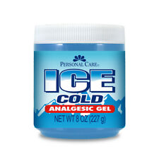 Personal Care Ice Cold Analgesic Gel. Pain Relief for Muscles and Joints. 8 Oz