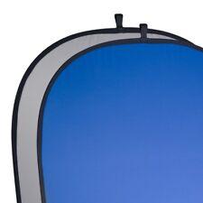 walimex 2in1 Falthintergrund grau/blau, 180x210cm inkl. Tasche, geringes Packmaß